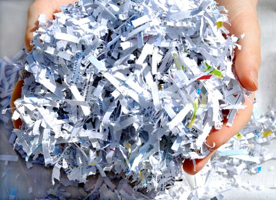 recycle shredded paper