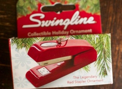 The Legendary Red Stapler Ornament