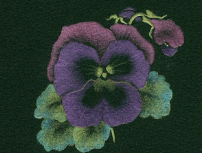 Metallic pencils: Pansies project