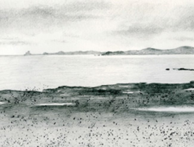 Watersoluble Sketching: coastal project