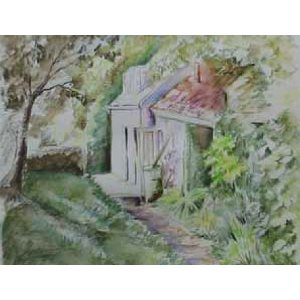 Watercolour pencils: cottage project