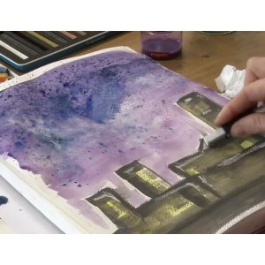 Inktense blocks - how to paint