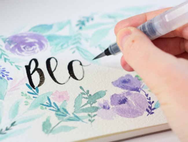Derwent Spring Calligraphy Step by Step