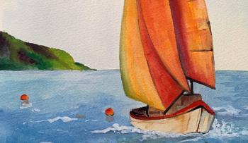 Inktense Boat Scene Paint-a-Long