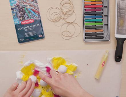 Tie-Dye Printing with Inktense