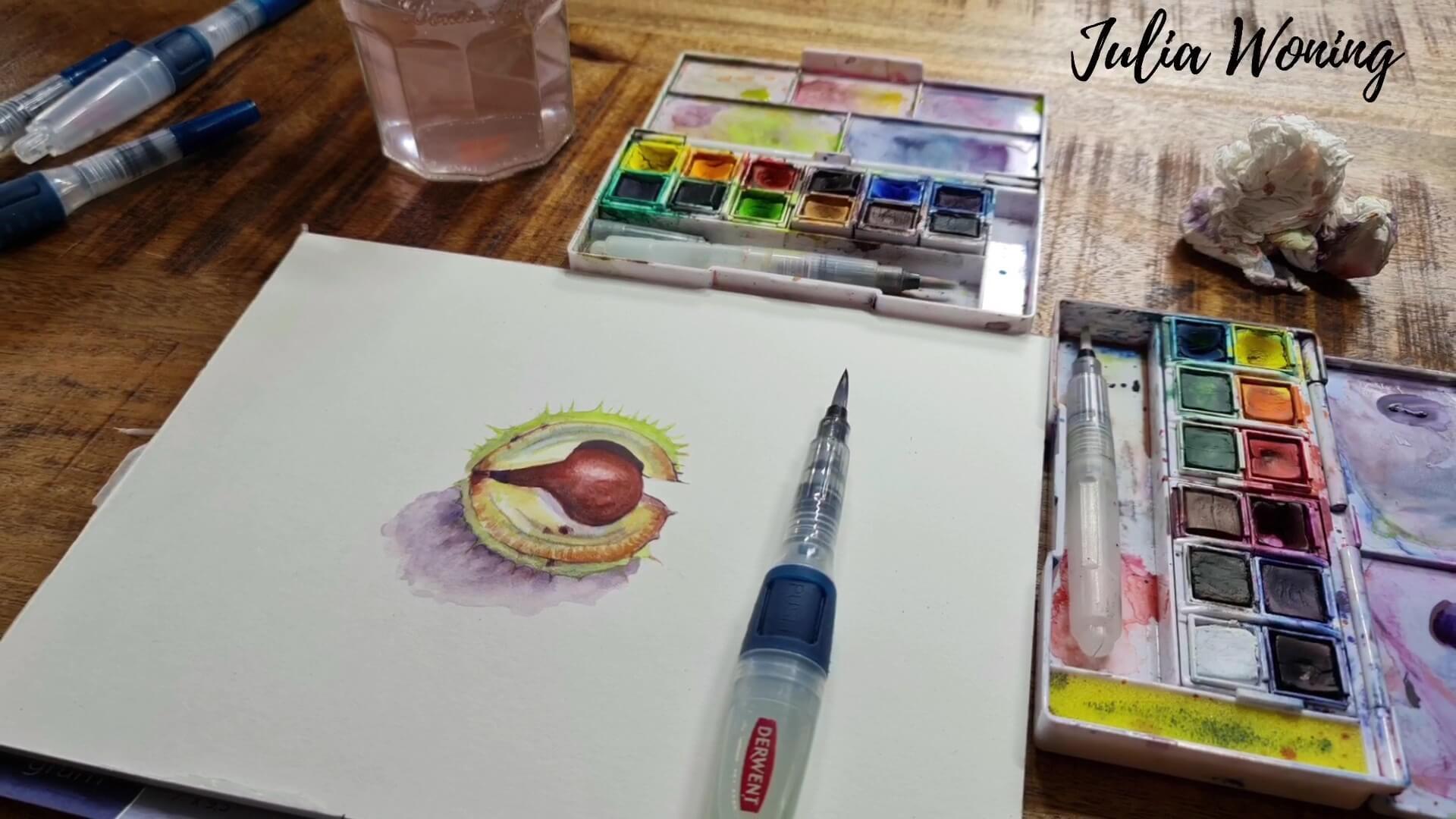 Inktense Paint Horse Chestnut