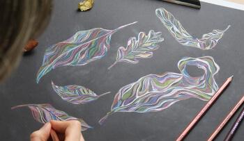 Colourful Illustration Leaves